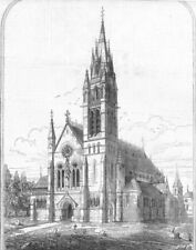 IRELAND. St Colman's Cathedral, Dromore, Co Down, antique print, 1873