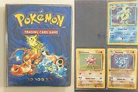 4th Print UK Base Set 1999-2000 - 87 Cards - Original Pokemon Card Folder