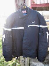 Tourmaster Jett Series Black Motorcycle Jacket w/Padding Zip out linin Men XL/46