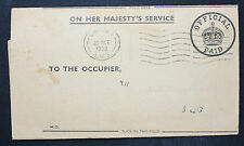 On Her Majesty 's Service OFFICIAL paid to the occupier Inghilterra Cover (l-2130