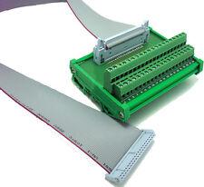 IDC40P 40 Pin Connectors Interface Module DIN Rail Terminal Blocks 0.5M Cable