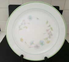 "Corelle ""Wildflowers ""  Two Green Rings 10 1/4 "" Dinner Plate Excellent Co."