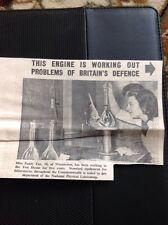 1953 Ephemera Picture Miss Paddy Fox Wimbledon Bushey Test House Physical Lab