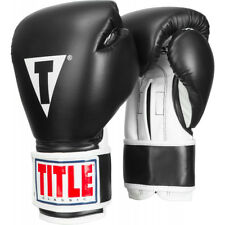 Title Boxing Classic Pro Style 3.0 Hook and Loop Training Gloves - Black/White
