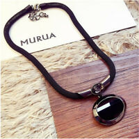 1×Fashion Women Black Beaded Pendant Long Chain Sweater Necklace Jewelry Hot