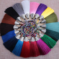 Ice Silk Tassel Trim DIY Key Chian Pendants Craft Jewelry Making Supplies 8cm