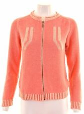 DIESEL Womens Cardigan Sweater Size 10 Small Pink Cotton  BJ06
