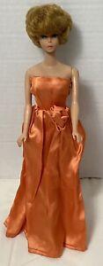 Vintage OOAK Handmade ORANGE Gown Dress Barbie Outfit No Doll