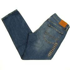 Lucky BRAND 221 Jeans Size 36 X 32 Dark Blue W/fade Mens Straight Leg Low Rise