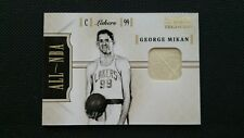 GEORGE MIKAN 2010-11 PLAYOFF NATIONAL TREASURES ALL NBA MATERIALS JERSEY #18/25!