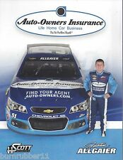 """2015 JUSTIN ALLGAIER AUTO-OWNERS INSURANCE"""" #51 NASCAR SPRINT CUP POSTCARD"""