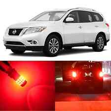 Alla Lighting Brake Turn Signal Light 7443 Red LED Bulbs for Nissan Rogue/Select