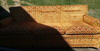 000 Funky Vintage Mid Centuy Berne Furniture. Custom Built Sofa Couch Indiana