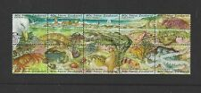 NEW ZEALAND  1996 SEASIDE ENVIRONMENT BOOKLET PANE USED FD PMK