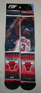 Mens FBF ORIGINALS Chicago Bulls NBA Dwyane Wade Hard Play 2 Socks - size L