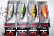 RAPALA FISHING LURES LOT OF 4,  SSR-5  SHALLOW SHAD RAP'S  Trout, Cod, Bass. *