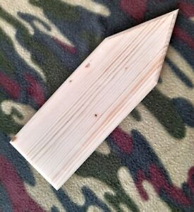 Plain HARD Wood Arrow Plaque Door Sign PLAIN Oblong edge Blank  ANY SIZE
