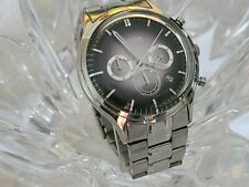 Fossil Men's Chronograph Mens Black-Dial Stainless Watch FS-4673 (207)