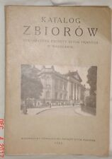 KATALOG ZBIOROW CATALOG OF FINE ART IN WARSAW POLAND POLSKA 1925 SOFTCOVER