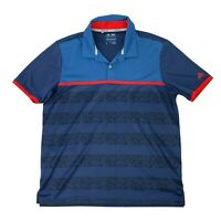 Adidas Climacool Polo Shirt Men's Size L Camo Stripe 2D Short Sleeve Athletic