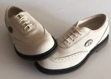 Dkny Women's White Satin Leather Wing Tip Golf Shoes 8