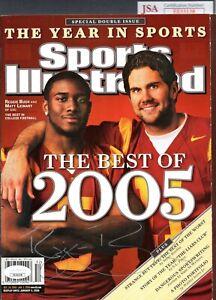 JSA Reggie Bush Autographed Signed 12/26/05 Sports Illustrated Magazine MBS 017