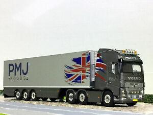 """Volvo FH4 globetrotter XL reefer trailer """"PMJ Foods""""WSI truck models 01-2043"""