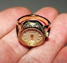 Vintage BUCHERER Gold-Tone Women's Watch Ring (SIZE: 5) - GORGEOUS, L@@K!