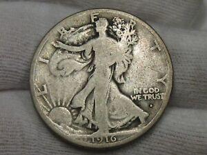 Key Date 1916-d Walking LIBERTY Half Dollar. #24