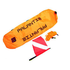 Palantic Scuba Diving Spearfishing Nylon Torpedo Float With Dive Flag
