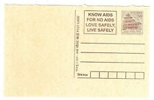 stamps India postal card Know Aids for No Aids Love Safely Live Safely  Medicine