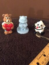 Lot (3) Vintage Toy Bear Figurines 2 To 2 1/2� Tall