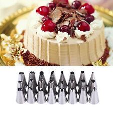 24Pcs Icing Piping Nozzles Tips Pastry Cake Cupcake Sugar craft Decor Tool