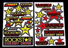 2 Sheets motocross Stickers atv mx Energy Rockstar BMX Bike Y3RR decal moped