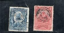 Haiti  - 2 stamps - bullseye cancels