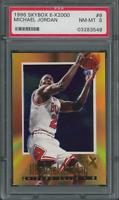 1996-97 Skybox E X 2000 Michael Jordan #9 Bulls Card - PSA 8 (03283549)