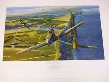 Defiance At Dieppe Allies Edition by Robert Bailey w/extra print 5 + 3 signers