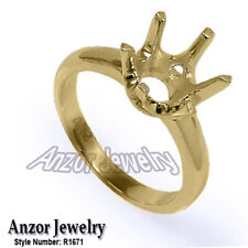 Six-Prong Ring Mounting in 14k Solid Yellow Gold #R1671