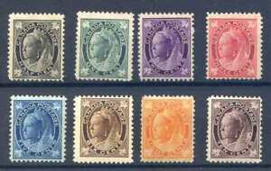 Canada 1897/98 SG141/149 Unmounted Mint