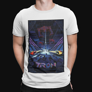 Tron Poster T-Shirt - Film - TV - Sci Fi - Retro - Cool - Geek - 80s - Action