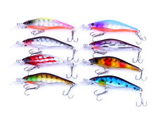 8pcs 8cm/6.3g 8 # hook Iron plate Fishing lure saltwater bait Minnow Crankbaits