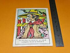 CHROMO 1920-1930 BISCUITS A. POUX ALBI COW-BOY CHEVAL JEU CHERCHEZ...