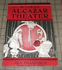"""1923 ALCAZAR THEATRE - San Francisco, CA Theatre Program - """"TOPSY and EVA"""" Show"""