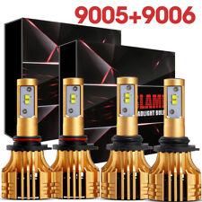 9005 + 9006 Combo CREE LED Headlights Car Conversion Kit Total 2040W HI/LO Bulbs