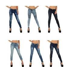 Markenlose Damen-Bootcut-Jeans aus Denim mit niedriger Bundhöhe (en)