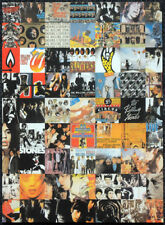 THE ROLLING STONES POSTER PAGE . LP ALBUM COVERS MONTAGE . R90