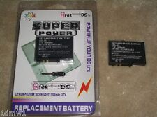 2 x NINTENDO DS LITE REPLACEMENT RECHARGEABLE BATTERY TWIN KIT 850mAh BRAND NEW!