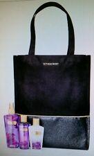 LOVE SPELL Bling Black Gift Tote Bag Body Wash Lotion & Mist VICTORIA'S SECRET