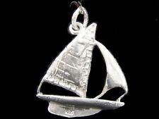 Sailing Yacht Charm Sterling silver 925 charmmakers 3D