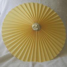 "Yellow 13"" Pleated uplighter Pendant lampshade"
